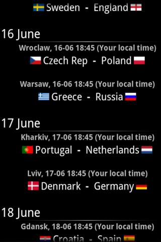 Euro 2012 Guide- screenshot