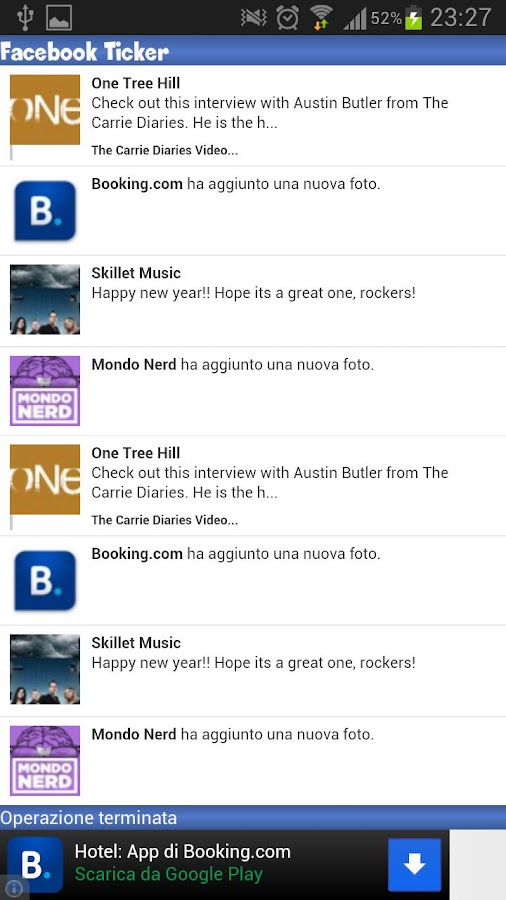 Facebook Ticker News Update - screenshot