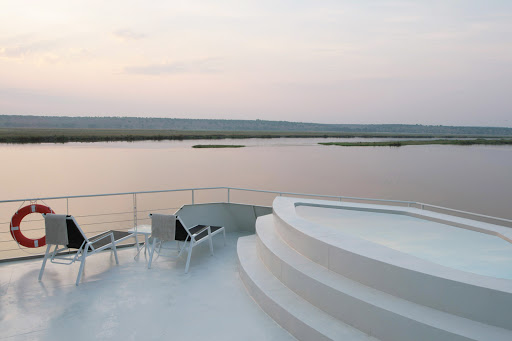 Zambezi-Queen-Sundeck-Pool - Hop into the pool on the sundeck of the Zambezi Queen for sightseeing like you've never experienced.