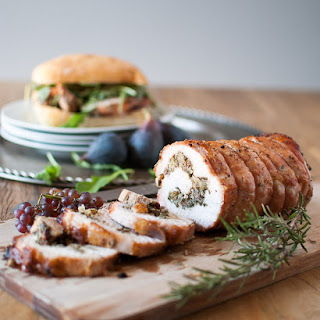 Pork Loin Roulade Sandwiches with Figs & Grapes Recipe
