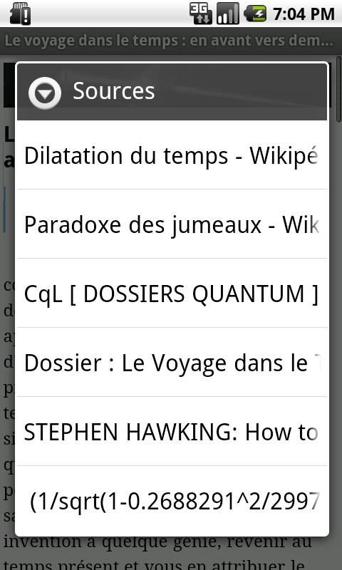 Omnilogie- screenshot