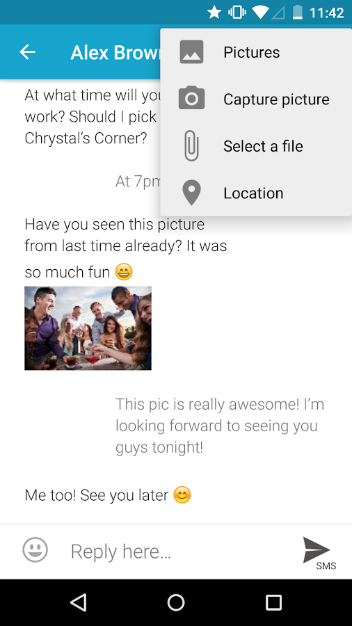 mysms SMS Text Messaging Sync - screenshot
