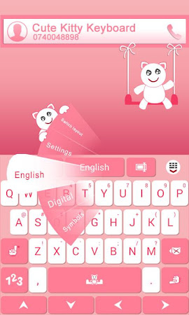 GO Keyboard Cute Kitty Theme 3.87 screenshot 640259