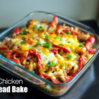 BBQ Chicken Cornbread Bake