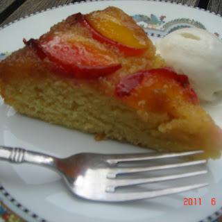 GF Nectarine Upside Down Cake.
