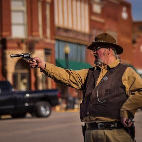 Cowboy Shootout by Nicole Nichols - People Street & Candids ( cowboy, western, shootout,  )