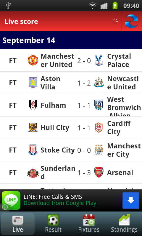 Barclays Premier League Info - screenshot