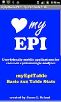 Screenshot of EpiTableCalcs