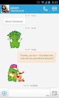 Screenshot of GO SMS Little Green STICKER