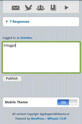 Ubuntu RSS Nyheter - screenshot