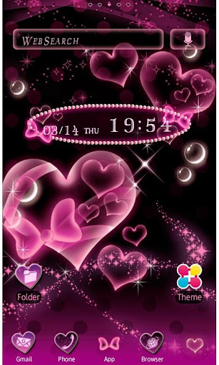 Bubble Hearts Wallpaper Theme 1.4 Windows u7528 1