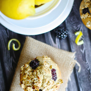 Gluten Free Blackberry Lemon Muffins