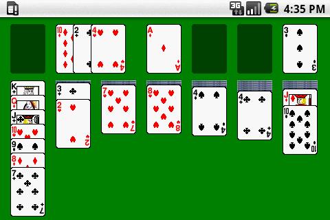 solitaire card game Screenshot