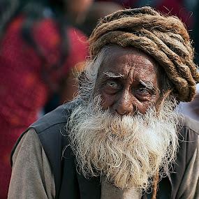 Pale blue eyes by Marco Parenti - People Portraits of Men ( india, people, man, portrait )