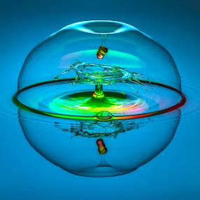 Pandora Under Attack by Ganjar Rahayu - Abstract Water Drops & Splashes ( waterdrop )