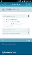Screenshot of Mi Movistar