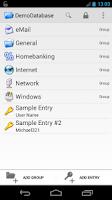 Screenshot of Keepass2Android Password Safe