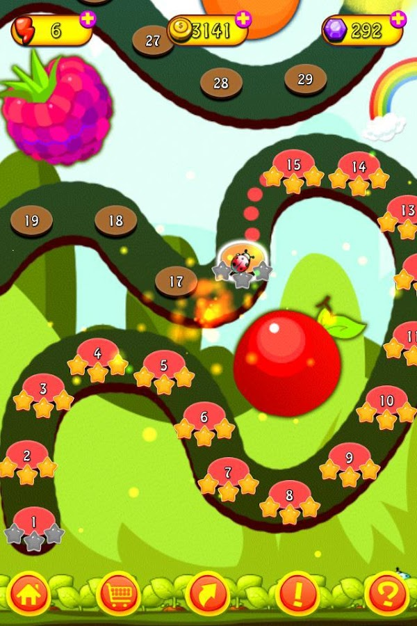 Cartoon Fruit Saga - screenshot
