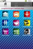 Screenshot of Loughborough Freshers App