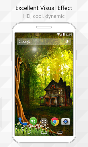 Forest Houses Live Wallpaper