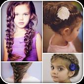 Hairstyles for girls: handmade