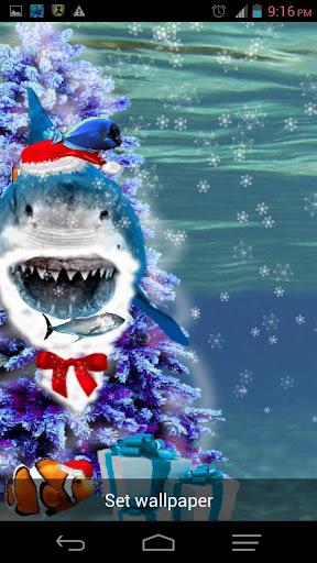 憤怒的鯊魚寵物聖誕皮膚