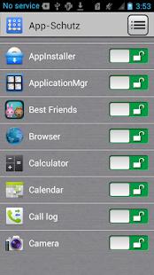 App-Sperre Screenshot
