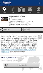 VisitScotland Events Guide - screenshot thumbnail