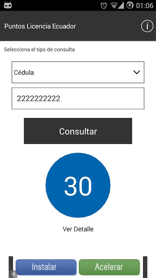 Puntos Licencia Ecuador - screenshot