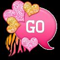 GO SMS - Hearts Zebra Mango 3 icon