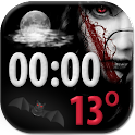 Scary Clock Weather Widget icon