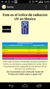 Sunny (Radiacion UV Mexico) screenshot