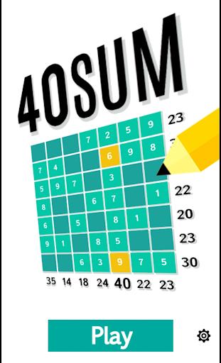 40 Sum - Addition Sudoku