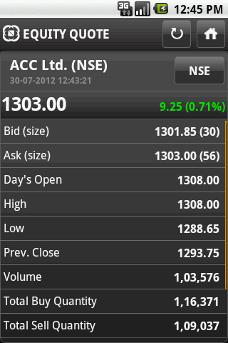 NSE MOBILE TRADING - screenshot