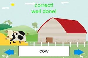 Screenshot of Animals Word Match