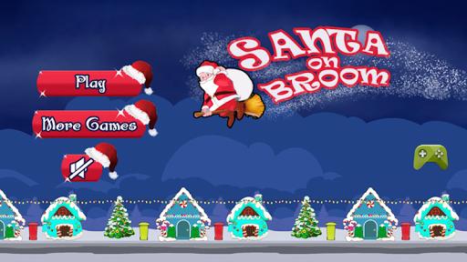 Santa on Broom