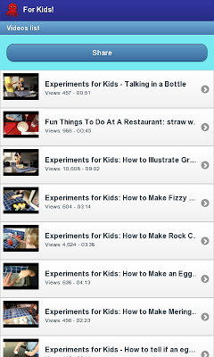Experiments for Kids - screenshot