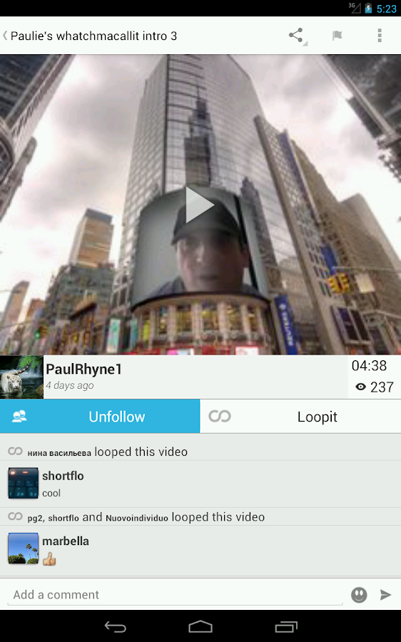 LoopLR Social Video - screenshot