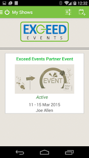 Exceed Events Mobile - náhled
