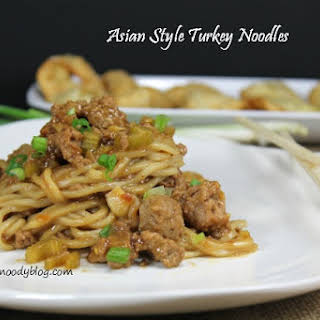Asian Style Turkey Noodles.
