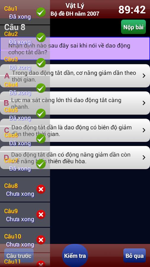 Luyện thi Vật Lý- screenshot