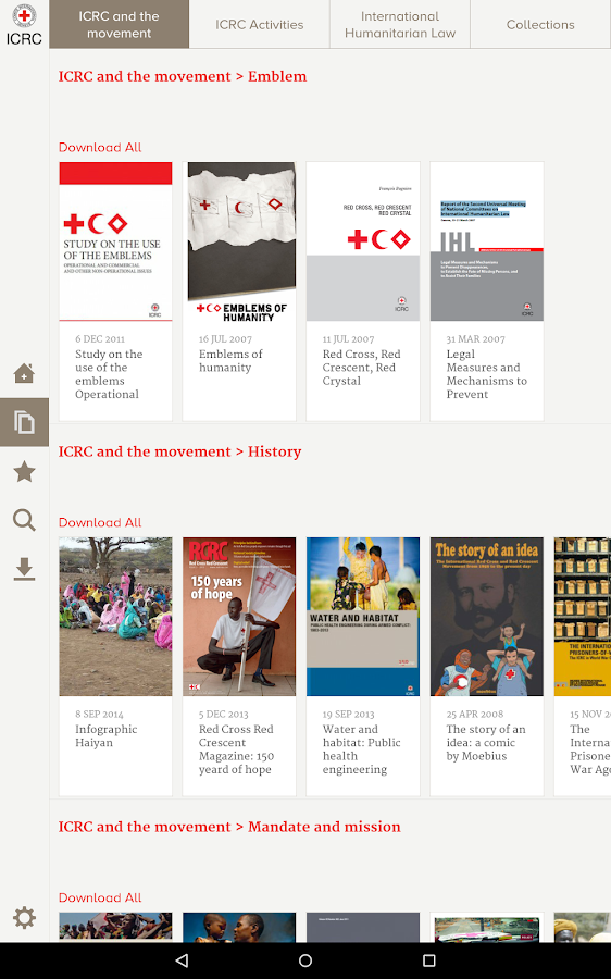 ICRC eLibrary- screenshot