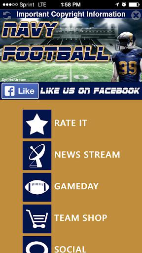 【免費運動App】Navy Football STREAM-APP點子
