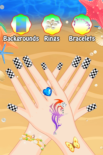 Hand Nail Art Salon Girls Game