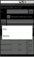 Screenshot of Scan to Spreadsheet