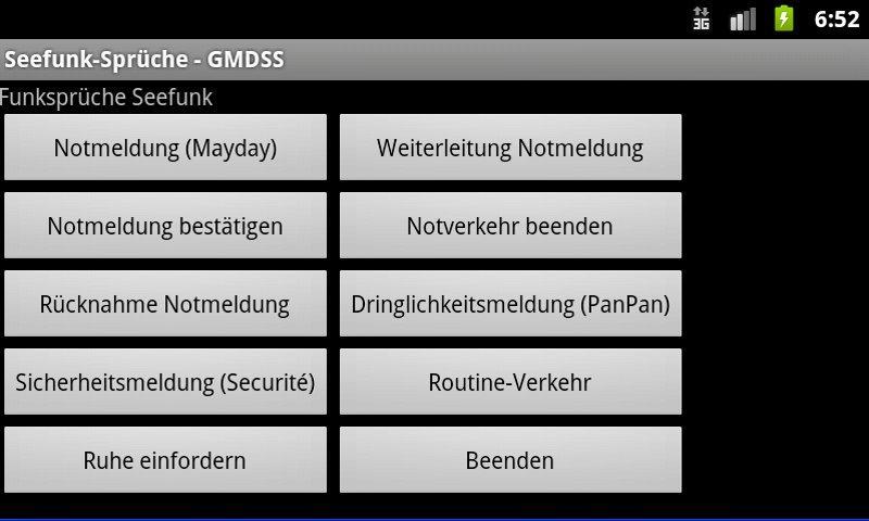 Radio Messages (GMDSS)- screenshot