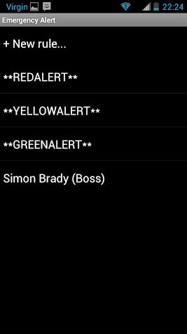 Emergency Alert Screenshot
