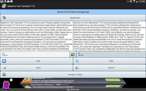 Speech to Text Translator TTS v3.1.4 [Mod] APK 7