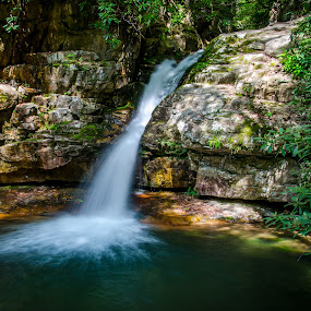 Blue Hole Falls by Tony Cox - Landscapes Waterscapes (  )