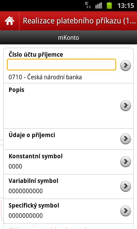 mBank CZ - screenshot